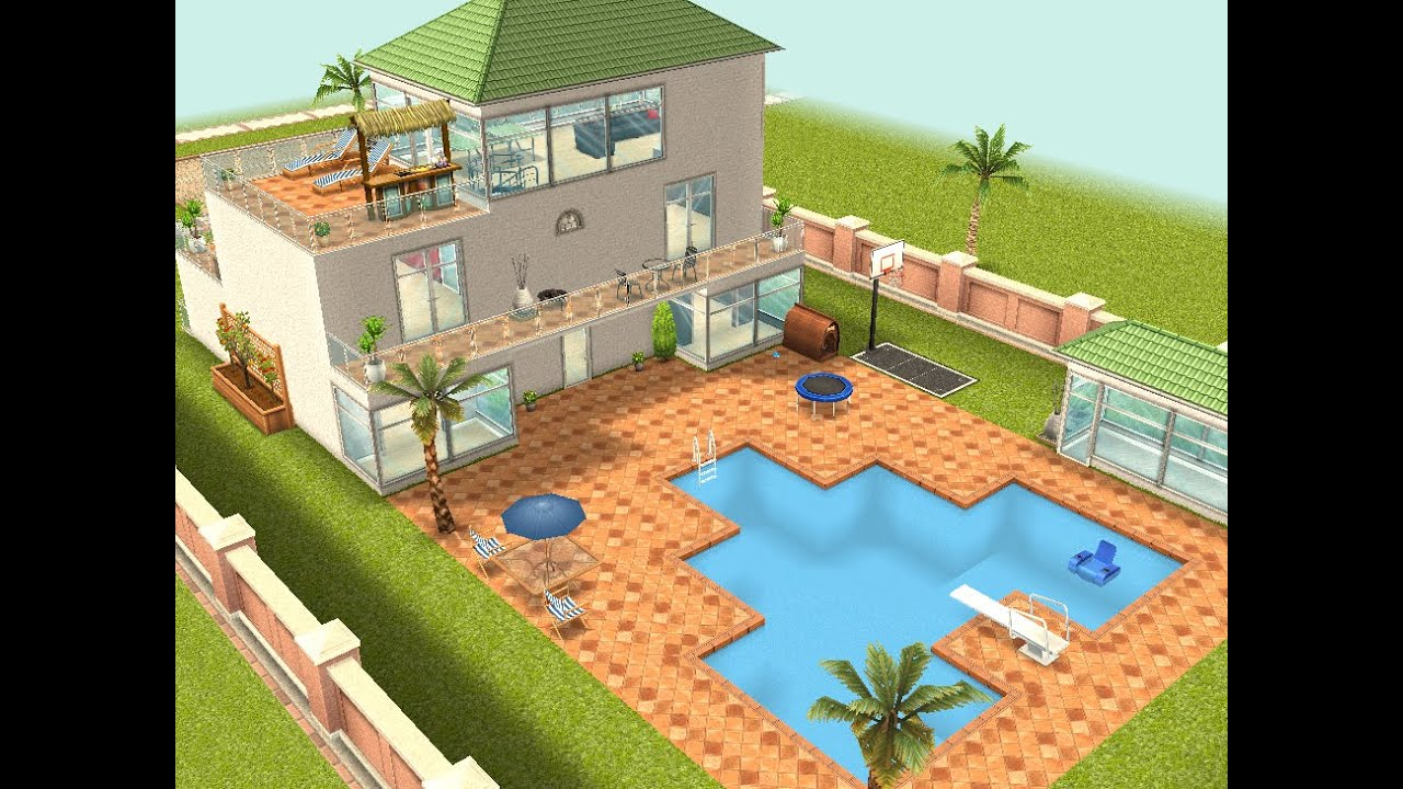 The Sims Freeplay Part I Deam House Patios Youtube