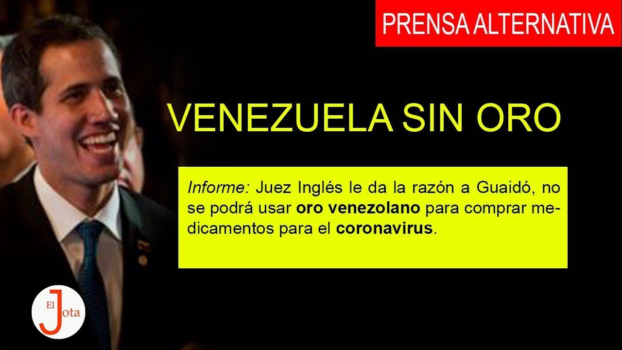 VENEZUELA SE QUEDA SIN ORO