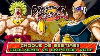 CHOQUE DE BESTIAS!! COOLKID99 vs EMPEROR_VOLF: DRAGON BALL FIGHTERZ: ONLINE