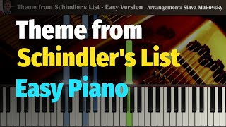 Theme from Schindler's List (John Williams) - Easy Piano Cover