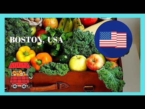 BOSTON, what to buy at the historic open-air HAYMARKET (MASSACHUSETTS, USA)