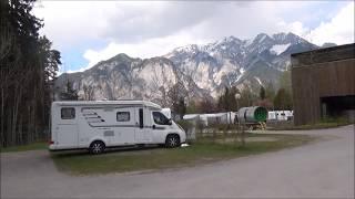 Arrival in Natterersee campsite near Innsbruck, Austria