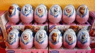 24 Surprise Eggs Frozen Movie 3-D Toys 2014 Unboxing Christmas Huevos Sorpresa 겨울왕국