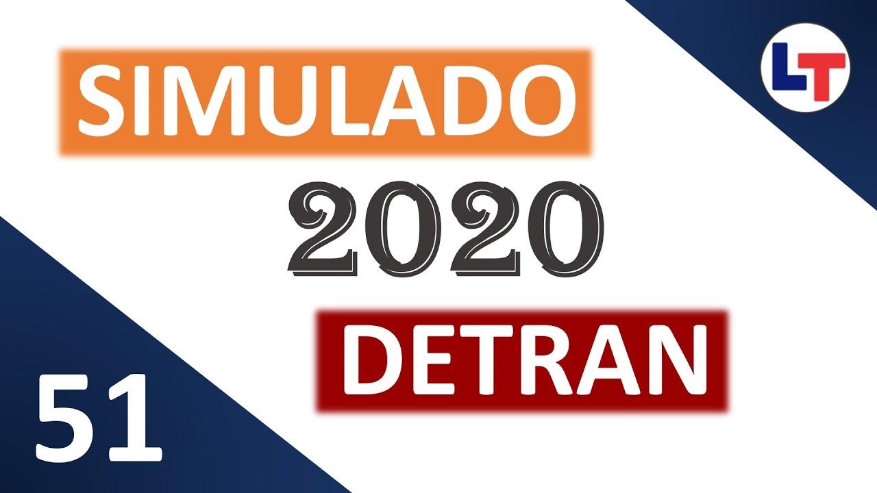 SIMULADO DETRAN QUESTÕES 2020 - AULA 51 #SimuladoLegTransito #Detran2020