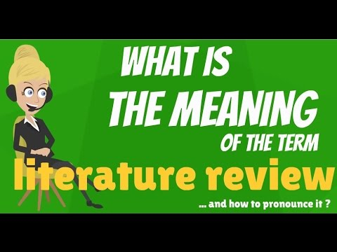 What Is Literature Review What Does Literature Review Mean