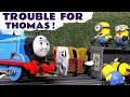 Thomas The Tank Engine Accident Trouble with funny Despicable Me Minions - Train toys story TT4U