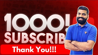 Thank You All 1000 Subscribers!!!