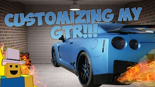 Vehicle Simulator | Customizing my Brand New NISSAN GTR in ROBLOX!!!!