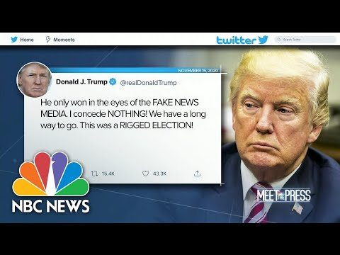 Trump Tweets: 'I Concede Nothing' | Meet The Press | NBC News