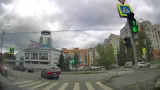 Движение на автомобиле по Тюмени на КиевскуюTrip On The Tyumen City Streets