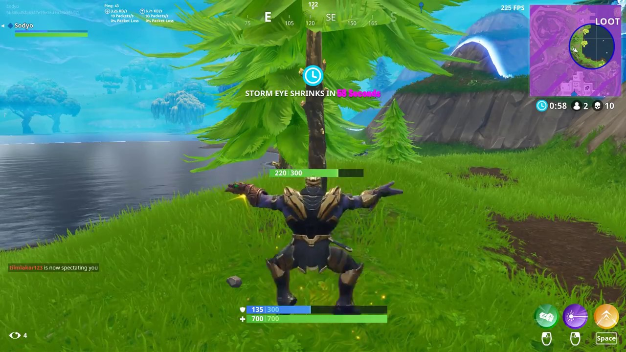 Cool Fortnite Glitch Dance While Charging Thanos Jump Old Thanos Gamemode