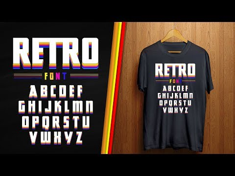 Retro T-shirt design | T-shirt design Tutorial thumbnail