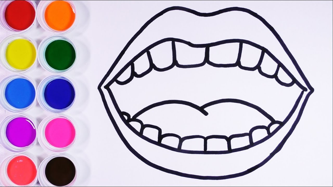 Dibuja Y Colorea Boca Con Dientes De Arco Iris Arte Y Colores Para Niños Learn Colors Funkeep Youtube