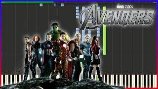 Video Avengers - Main Theme | Piano Tutorial + MIDI download MP3, 3GP, MP4, WEBM, AVI, FLV November 2018