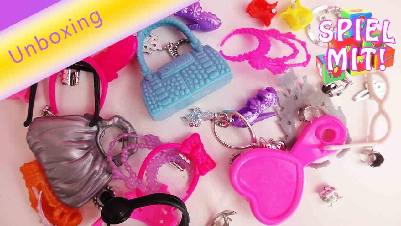 Barbie Accessories Set - Zubehör Set für Barbie - Unboxing - YouTube