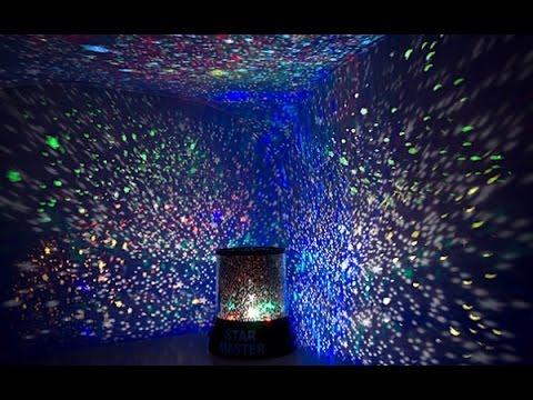 лампа ночник звездное небо - YouTube