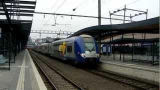 SNCF 2x Z 24500 départ gare de Luxembourg (TER Lorraine).