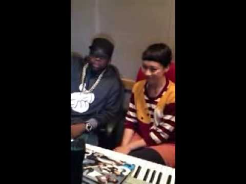 Big Boi and Yukimi in the studio