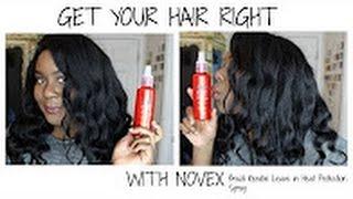 Easy Beautiful curls on Kinky hair styled with Novex Brazilian Keratin Styling Spray by Sam