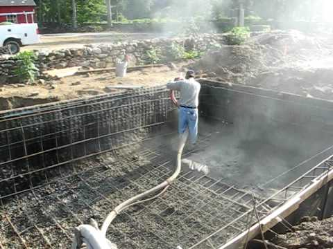 Gunite spraying inground pool youtube - Swimming pool construction in india ...