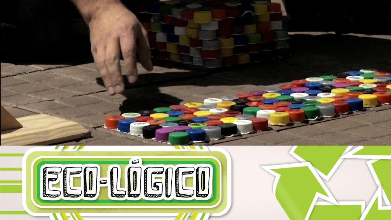 Piso con tapitas eco l gico cap 8 youtube for Materiales para hacer un piso