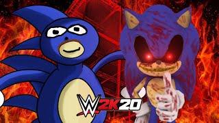 SANIC vs SONIC.EXE | WWE 2K20 Gameplay