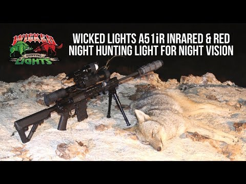Wicked Lights A51iR Infrared Night Hunting Light For Night Vision