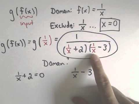 Domain of a Composition of Functions, Example 1
