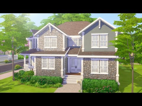 GREYSTONE FAMILY MANSION // The Sims 4: Speed Build thumbnail