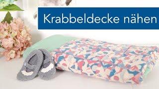 Patchwork Babyquilt / Krabbeldecke nähen mit kleinen Dreiecken
