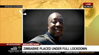 Zimbabwe placed under a full lockdown due to increasing COVID-19 infections