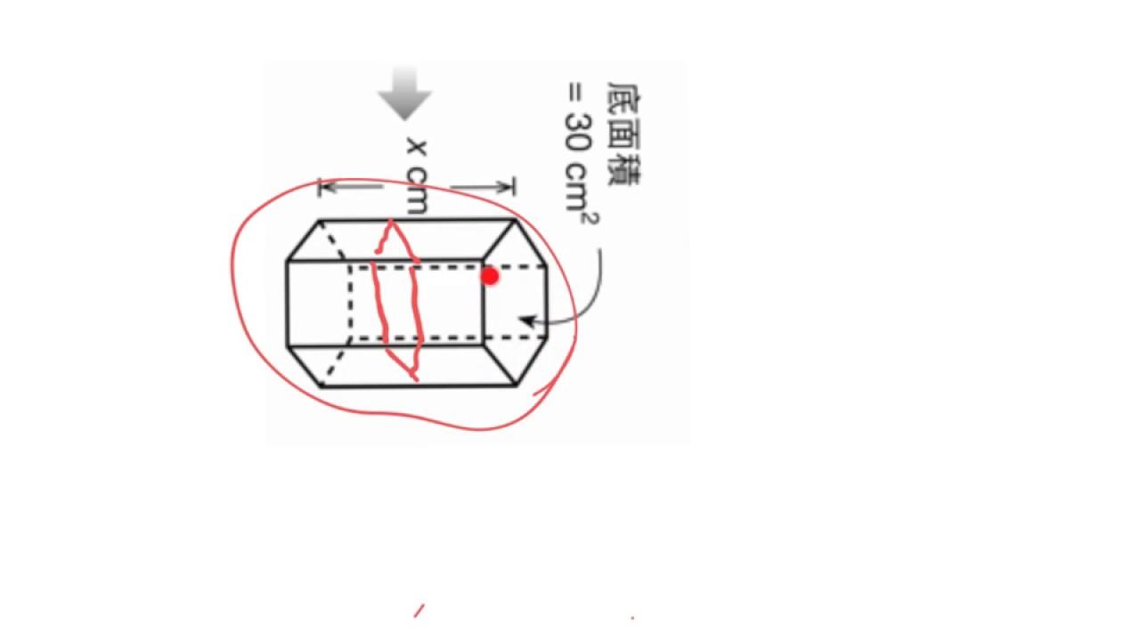 中一級 10.2 體積和總表面面積 (4) (有關底和底面積) - YouTube