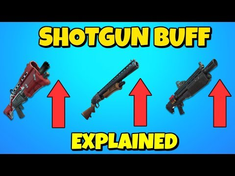 NEW SHOTGUN BUFF EXPLAINED IN FORTNITE