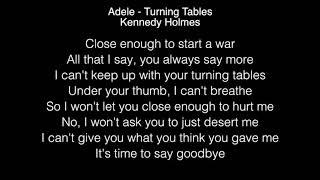 Kennedy Holmes - Turning Tables Lyrics (Adele) The Voice