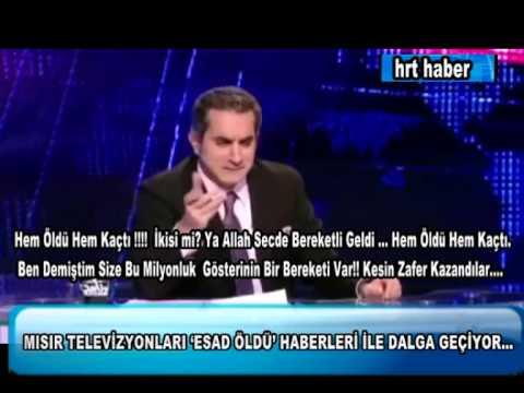 MISIR TELEVİZYONLARI 'ESAD ÖLDÜ' HABERLERİ İLE DALGA GEÇİYOR...
