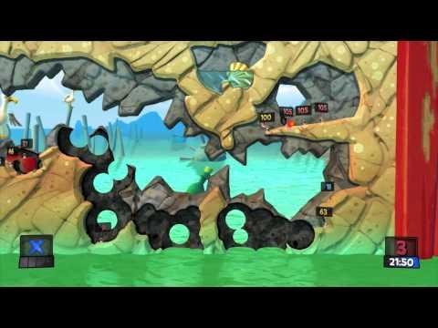 Plebs Playin' Worms Revolution - Game 13 (3P Deathmatch) |