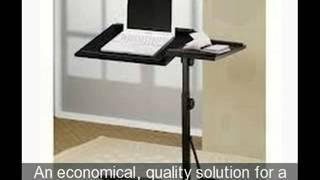 Wood Adjustable Rolling Laptop Desk