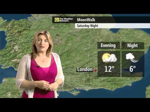 The MoonWalk London 2015 weather forecast