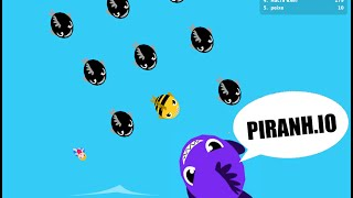 PIRANH.IO Better Than DIEP.IO, AGAR.IO, SLITHER.IO COMBINED? Epic new .io Games Gameplay!
