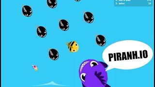 PIRANH.IO Better Than DIEP.IO, AGAR.IO, SLITHER.IO COMBINED? Epic new .io Games Gameplay!