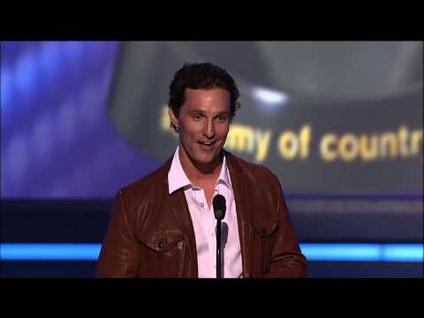 Matthew McConaughey, Carrie Underwood & George Strait's Boots - ACM Awards