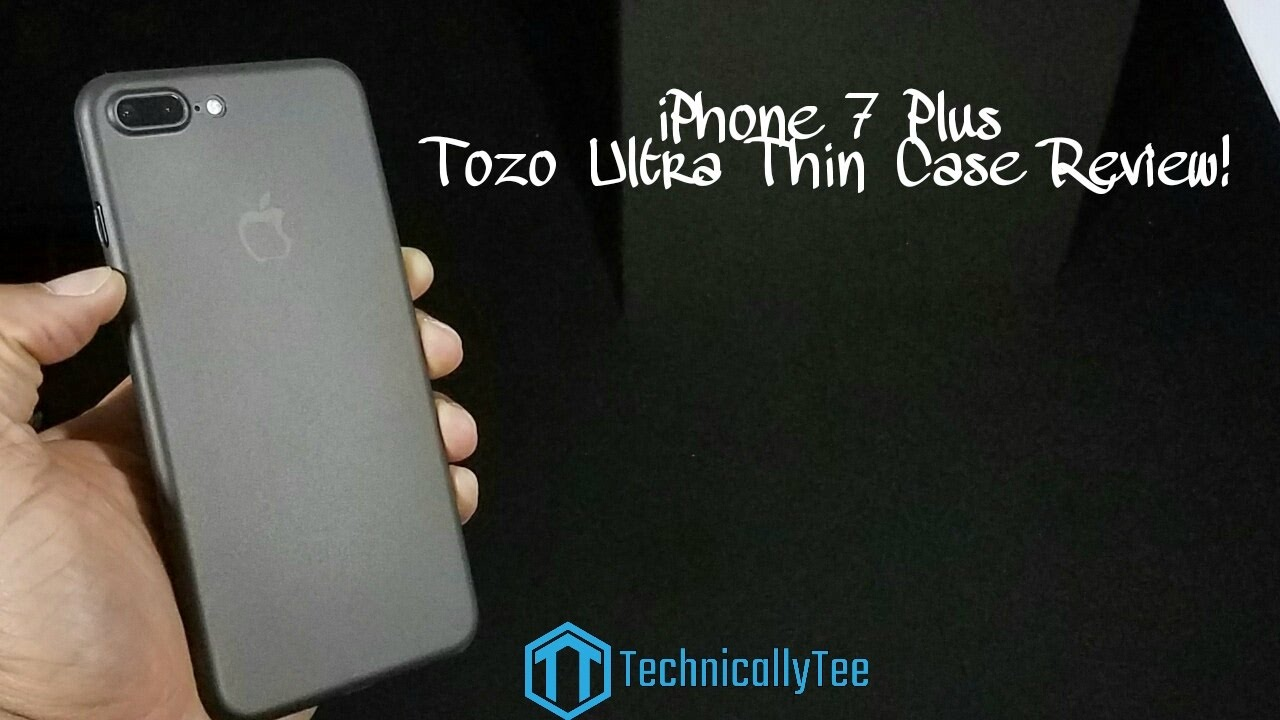 the best attitude d3a21 f5ecf iPhone 7 Plus Tozo Thin Case Review!