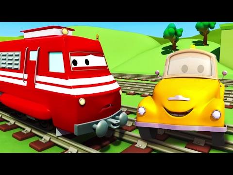 Tom o Caminhão de Reboque e Troy o Trem na Cidade do Carro | Desenhos animados crianças