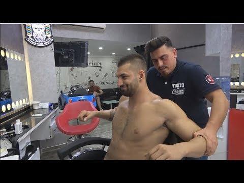 ASMR Turkish Barber Face,Head And Body Massage 267