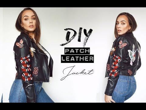 DIY Patch Leather Jacket   Tijana Arsenijevic