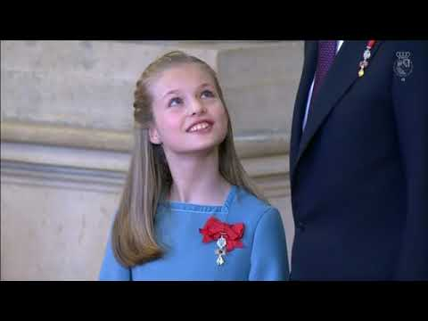 Crown Princess Leonor is awarded the Order of the Golden Fleece