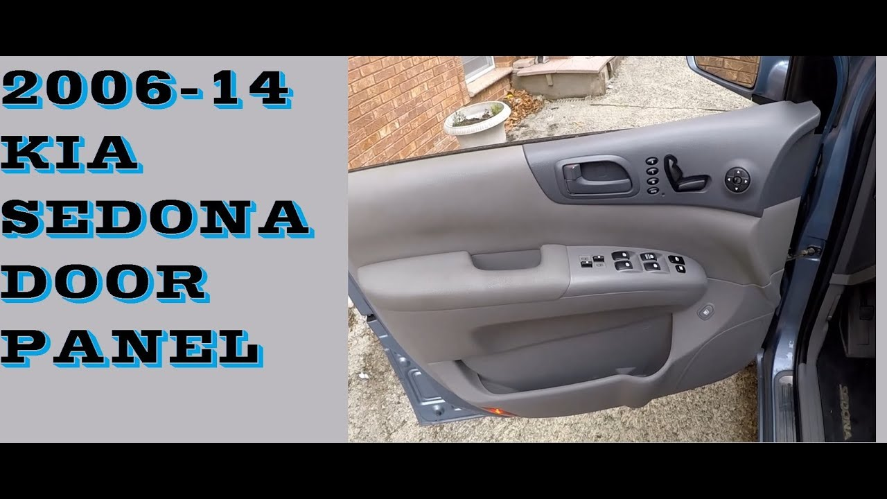 Dark Gray Inside Door Handle Catch Front//Right for 06~14 Kia Sedona//Carnival