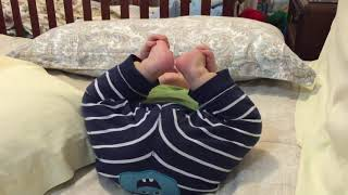Funny baby laughing with farts