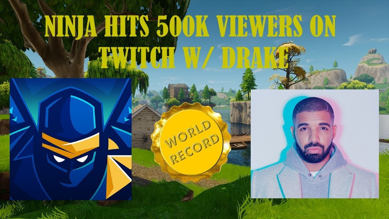 Ninja streams Fortnite on YouTube w/ millions of viewers following ...