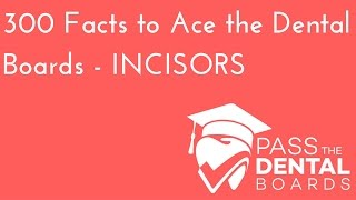 300 Dental Anatomy Facts PART 2- INCISORS - NBDE Part 1 Boards Study